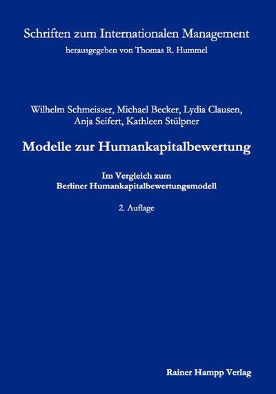 Modelle zur Humankapitalbewertung