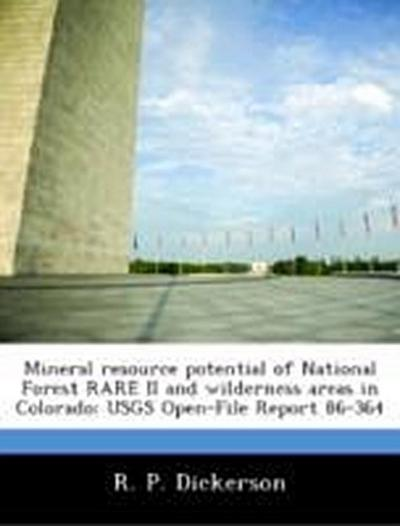 Dickerson, R: Mineral resource potential of National Forest