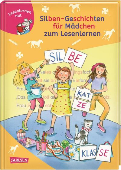 LESEMAUS zum Lesenlernen Sammelbände: Silben-Geschichten für Mädchen zum Lesenlernen