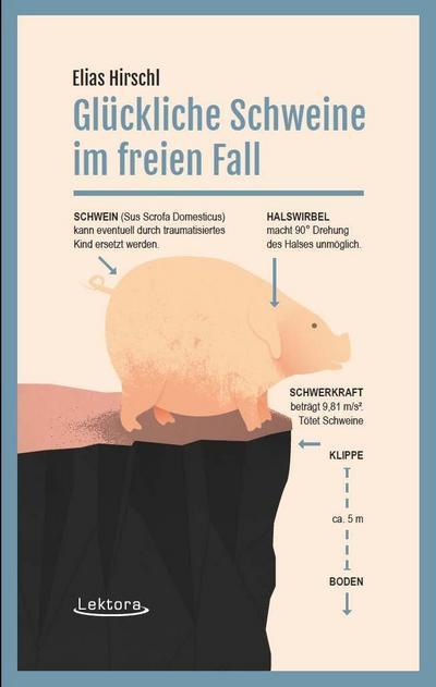 Glückliche Schweine im freien Fall