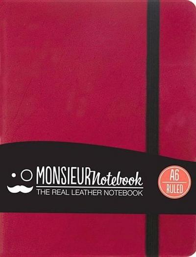 Monsieur Notebook A6 - liniert (90gr) pink