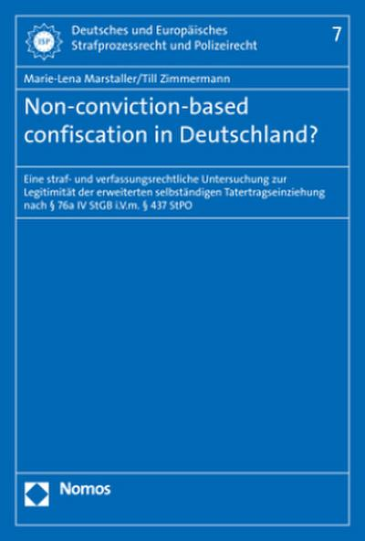 Non-conviction-based confiscation in Deutschland?
