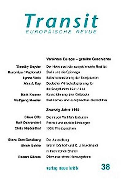 Transit 38. Europäische Revue