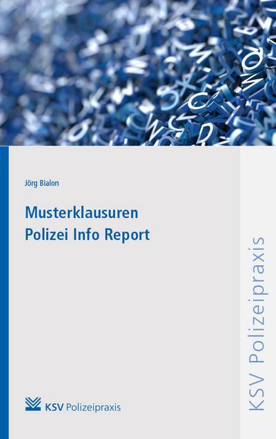 Musterklausuren Polizei Info Report
