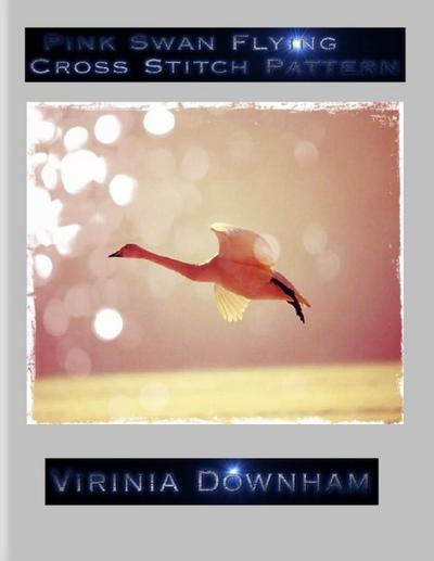Pink Swan Flying Cross Stitch Pattern