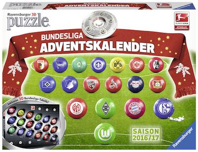 Adventskalender Bundesliga: Erlebe Puzzeln in der 3. Dimension