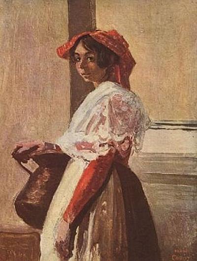 Jean-Baptiste-Camille Corot - Italienerin mit Krug - 200 Teile (Puzzle)