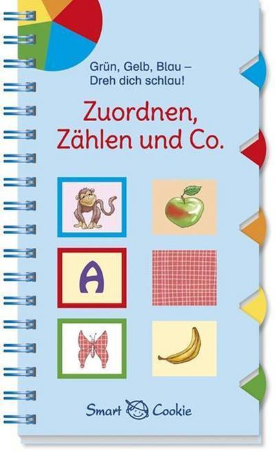 Grün, Gelb, Blau - Dreh dich schlau: Zuordnen, Zählen und Co.