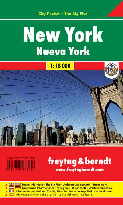 New York 1 : 18 000 City Pocket + The Big Five