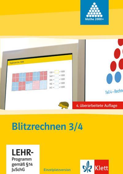 Das Zahlenbuch. 3. und 4.Schuljahr. Tafelbilder. Blitzrechensoftware. CD-ROM (für Windows ab 98 und Mac ab G4). Neubearbeitung