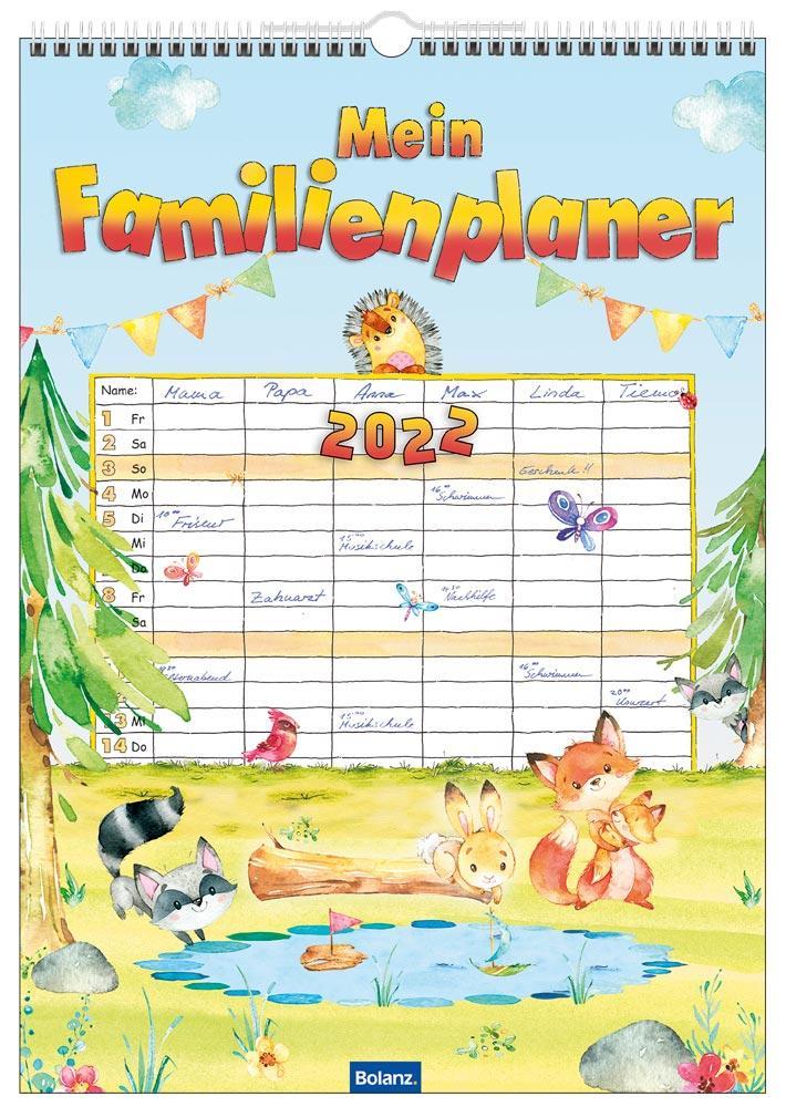 Familienplaner, der auch Kindern Spaß macht