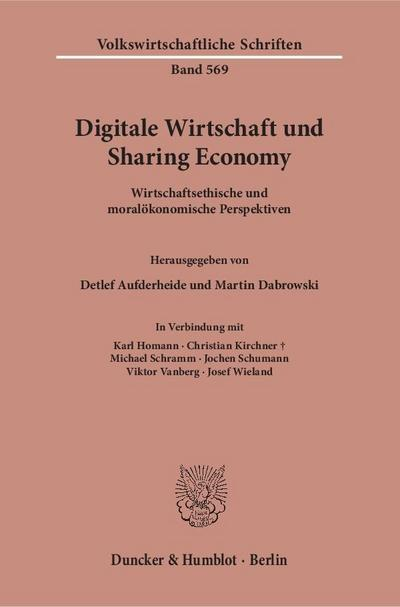 Digitale Wirtschaft und Sharing Economy.