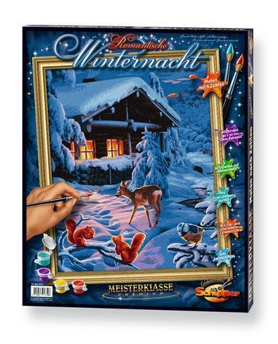 Schipper 609130630 - Malen nach Zahlen - Romantische Winternacht