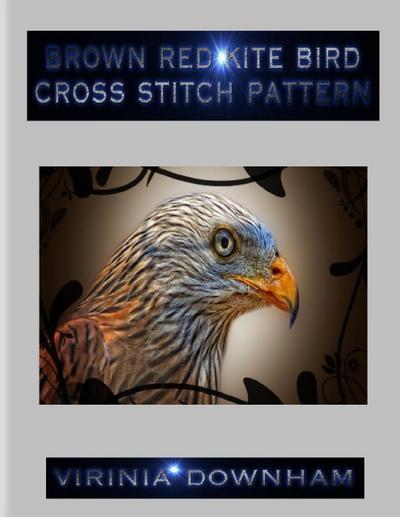 Brown Red Kite Bird Cross Stitch Pattern