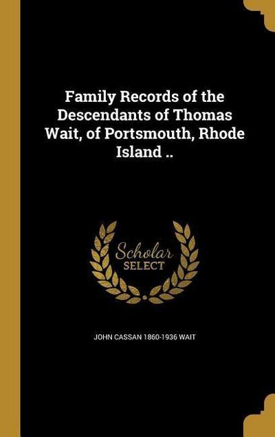 FAMILY RECORDS OF THE DESCENDA