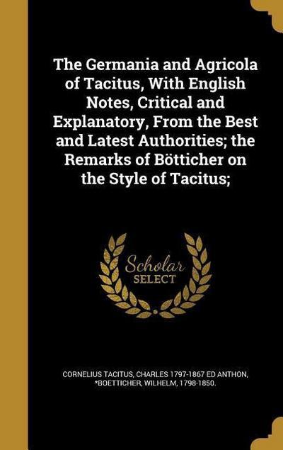 GERMANIA & AGRICOLA OF TACITUS
