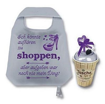 Unbekannt 1 Tasche to go rosa Einkaufstasche mit Spruch Ich könnte aufhören zu Shoppen, Aber aufgeben war - Hergo - Haushaltswaren, Deutsch, , ,