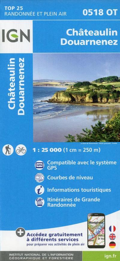 Châteaulin Douarnenez 1:25 000