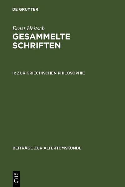 Zur griechischen Philosophie
