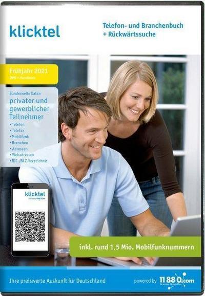 klicktel Telefon- und Branchenbuch + Rückwärtssuche Frühjahr 2021. Für Windows 7/8/10
