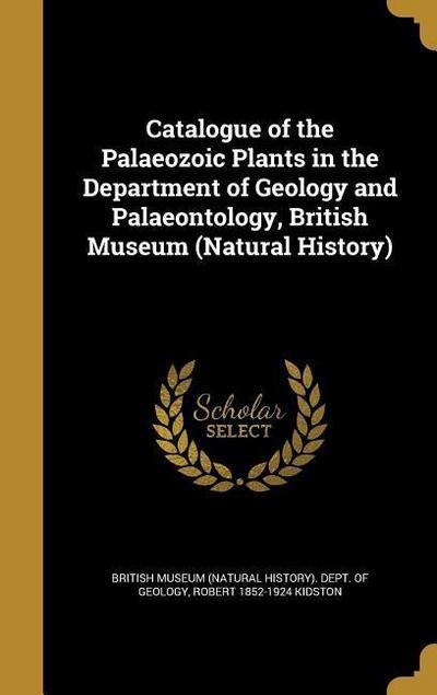 CATALOGUE OF THE PALAEOZOIC PL