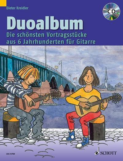 Duoalbum, für Gitarre, m. Audio-CD
