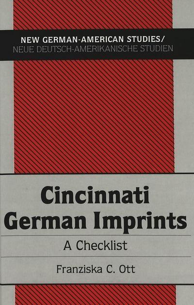 Cincinnati German Imprints