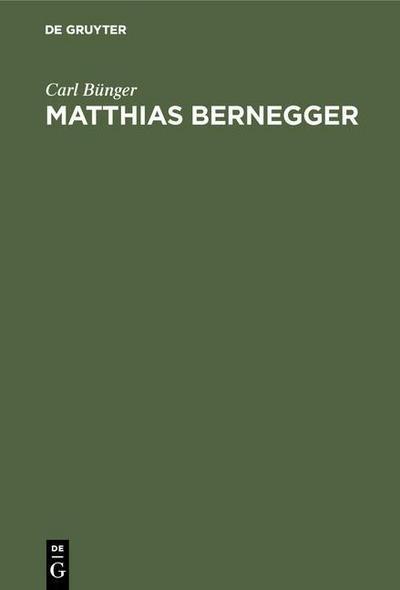 Matthias Bernegger