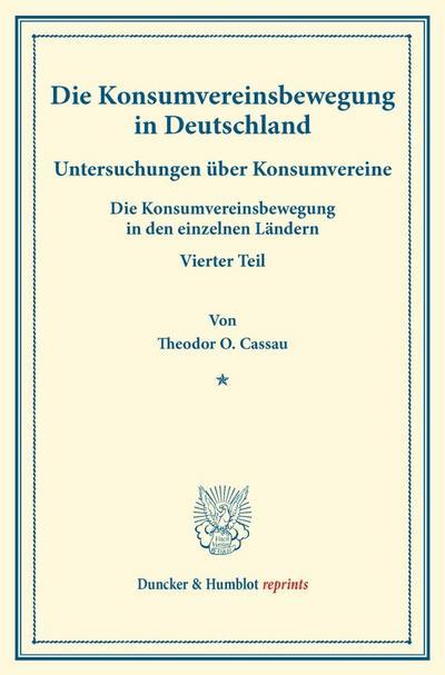 Die Konsumvereinsbewegung in Deutschland.