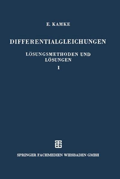 Differentialgleichungen Lösungsmethoden und Lösungen