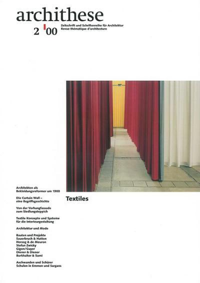 Archithese 2000/02 Textiles