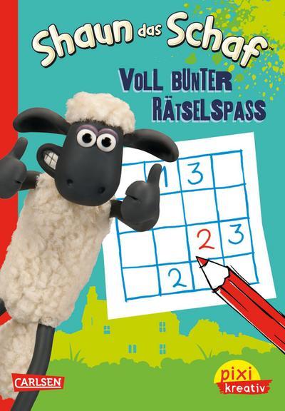 Pixi kreativ Nr. 77: VE 5 Shaun das Schaf: Voll bunter Rätselspaß