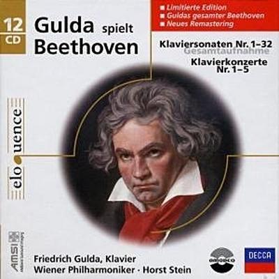 Klaviersonaten Nr. 1-32 (GA) / Klavierkonzerte Nr. 1-5 (GA). 12 Klassik-CDs