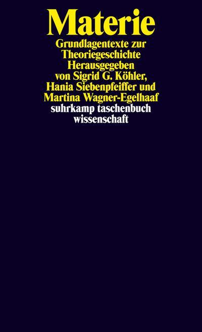 Materie: Grundlagentexte zur Theoriegeschichte (suhrkamp taschenbuch wissenschaft)