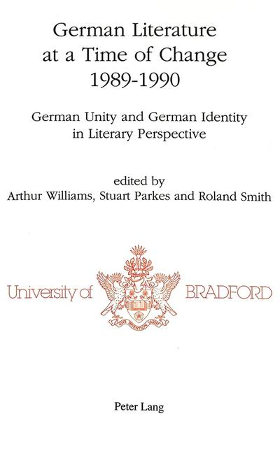 German Literature at a Time of Change, 1989-1990