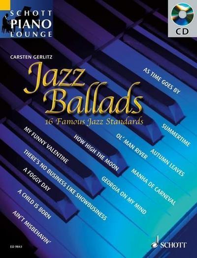 Jazz Ballads, für Klavier, m. Audio-CD