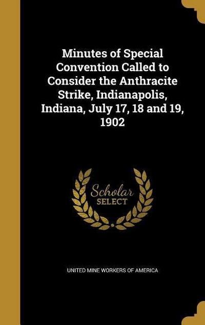 MINUTES OF SPECIAL CONVENTION