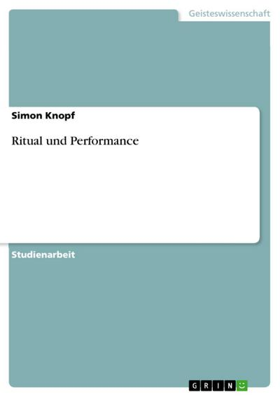 Ritual und Performance