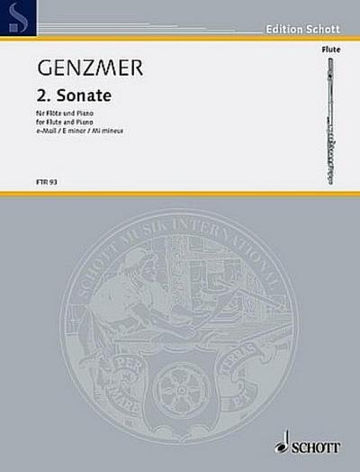 Sonate e-Moll Nr.2 für Flöteund Klavier