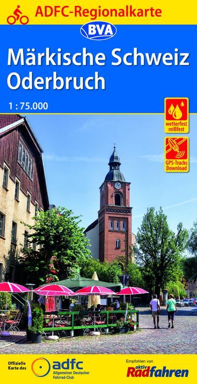 ADFC-Regionalkarte Märkische Schweiz Oderbruch 1:75.000