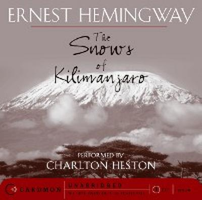 The Snows of Kilimanjaro CD - Caedmon - Audio CD, Englisch, Ernest Hemingway, ,
