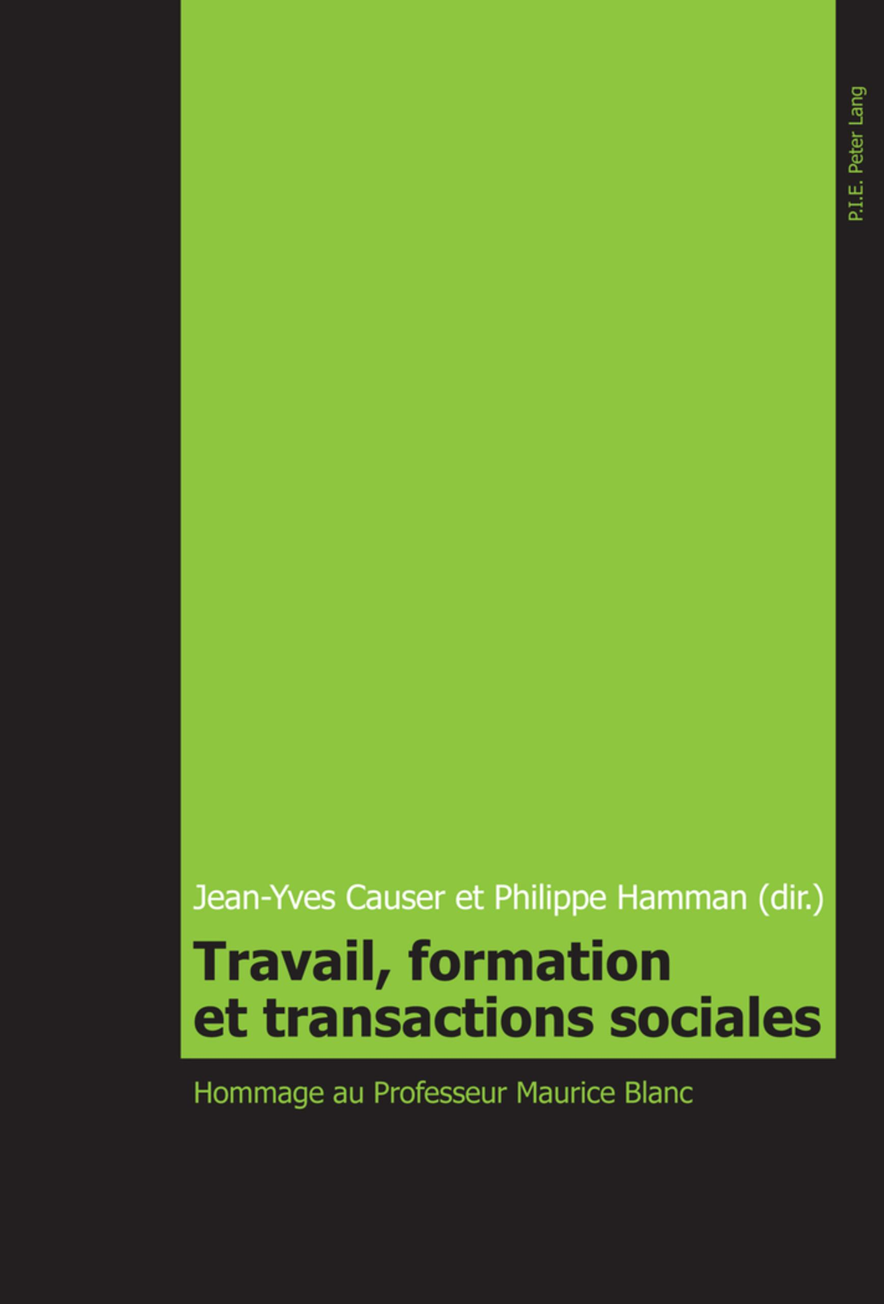 Travail, formation et transactions sociales ~ Jean-Yves Caus ... 9789052016764