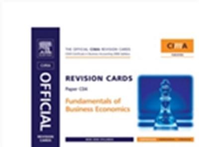CIMA Revision Cards Fundamentals of Business Economics