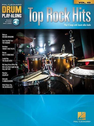 Top Rock Hits: Drum Play-Along Volume 49
