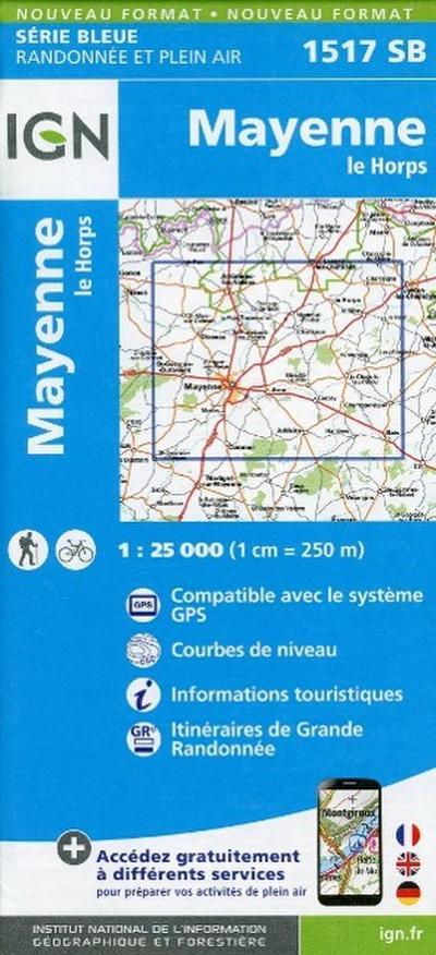 Mayenne le Horps 1 : 25 000