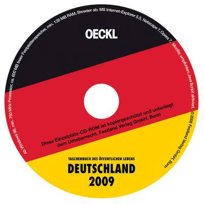 OECKL. Taschenbuch des Öffentlichen Lebens Deutschland 2009. CD-ROM