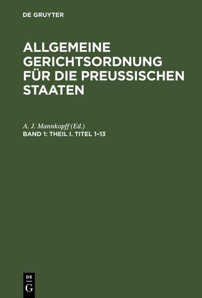 Theil I. Titel 1-13
