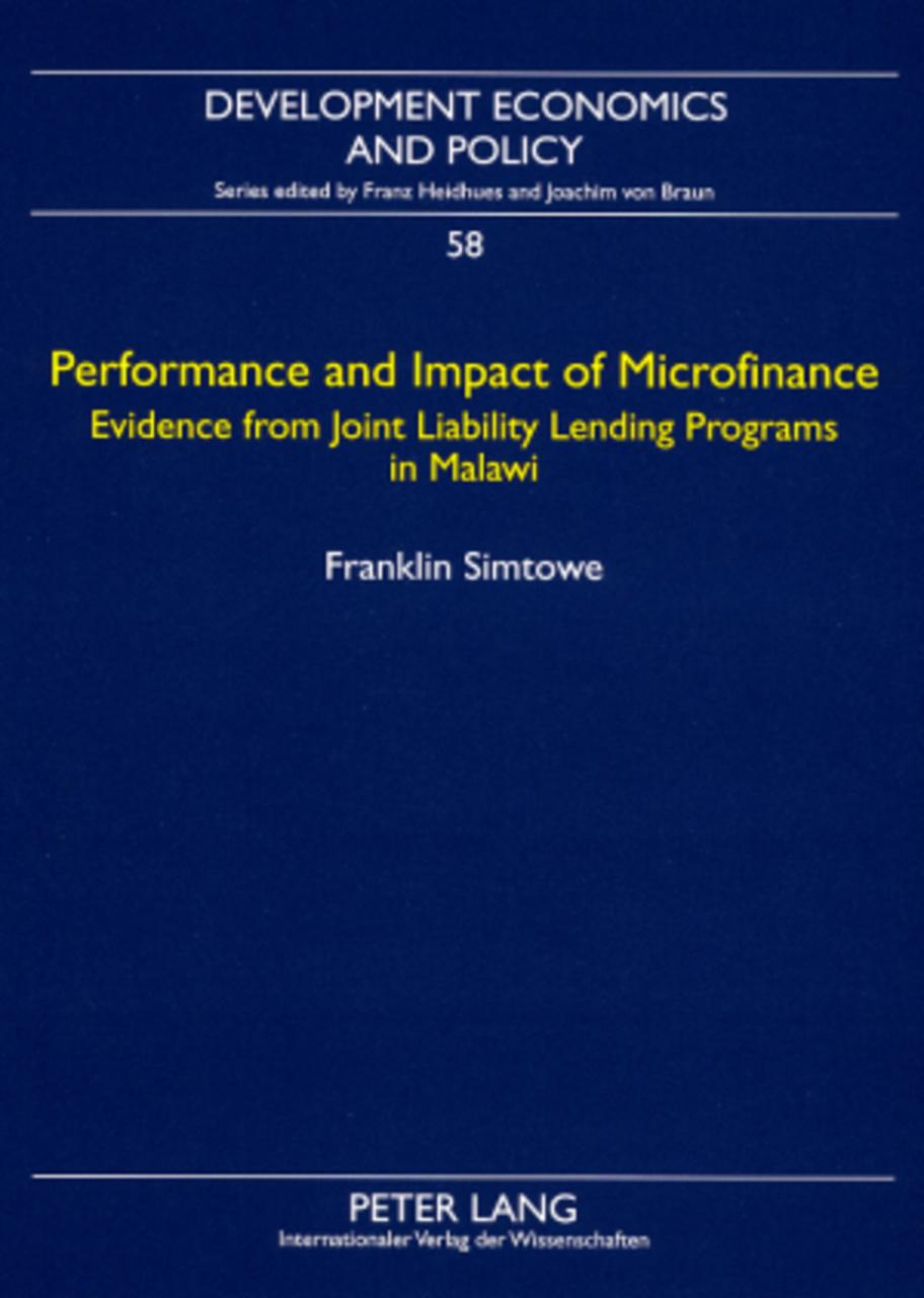 Performance and Impact of Microfinance, Franklin Simtowe