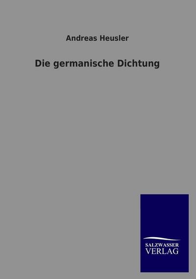 Die germanische DIchtung