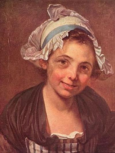 Jean-Baptiste Greuze - Porträt einer jungen Bäuerin - 1.000 Teile (Puzzle)